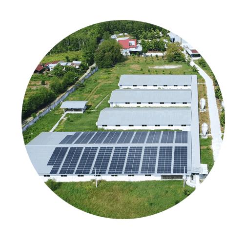 Hệ thống điện năng lượng mặt trời áp mái trên mái tôn