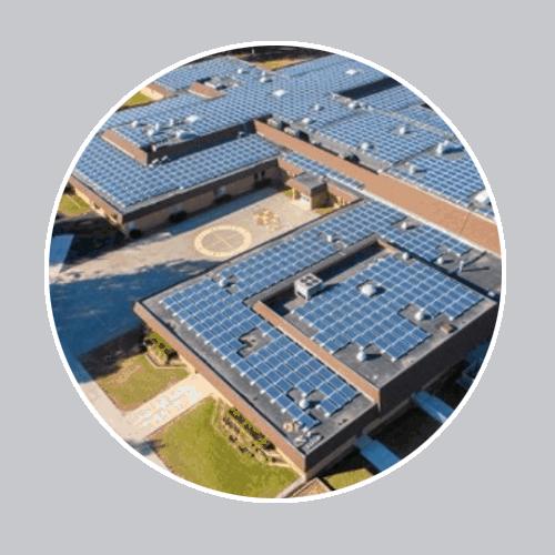 Hệ thống điện năng lượng mặt trời áp mái ở trường học