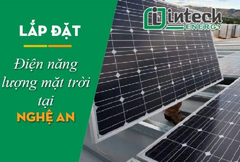 Lắp đặt điện mặt trời tại Nghệ An
