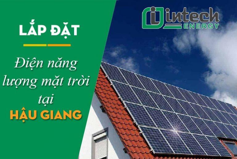 Lắp đặt điện năng lượng mặt trời tại Hậu Giang