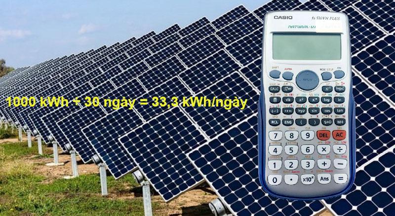 Công suất 1 tấm pin năng lượng mặt trời bao nhiêu?
