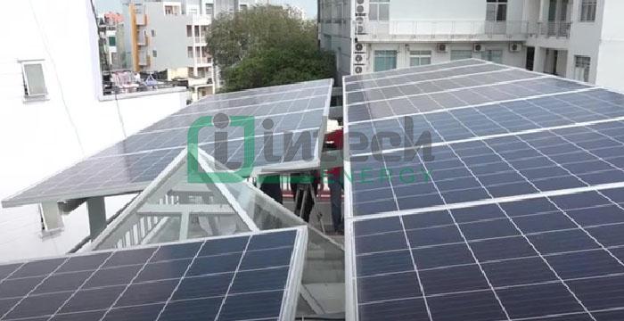 khung, giá đỡ tấm năng lượng mặt trời bêtong