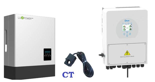 Inverter hybrid kết hợp cùng CT cảm biến dòng điện phát lên lưới